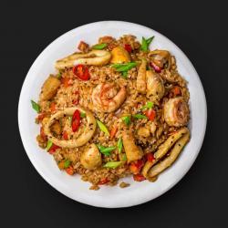 Wok Тяхан з морепродуктами
